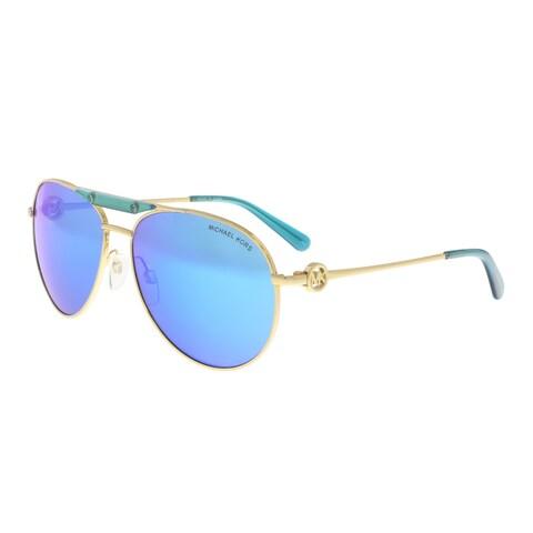 Michael Kors MK5001 109725 Gold /Blue Aviator Sunglasses - 58-14-135