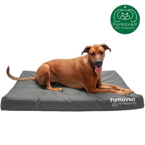 FurHaven Oxford Indoor/Outdoor Deluxe Dog Bed