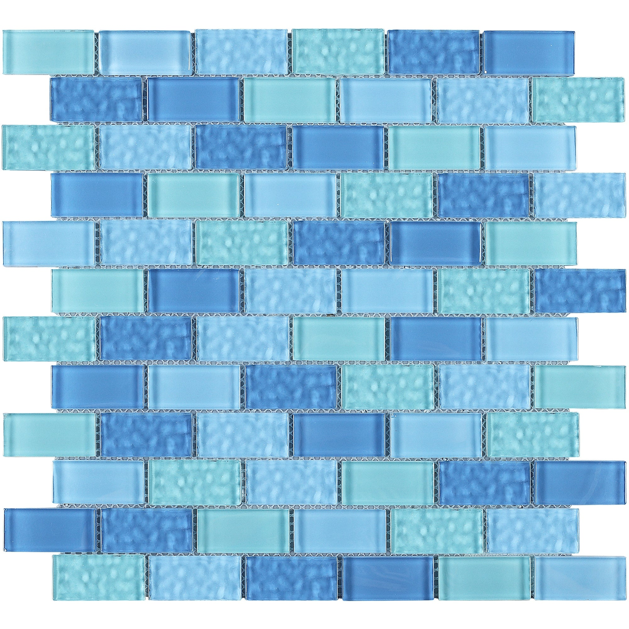 Gl Mosaic Tile In Blue Wall