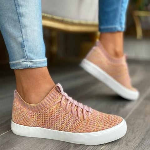 Flying Woven Lace Up Sneakers