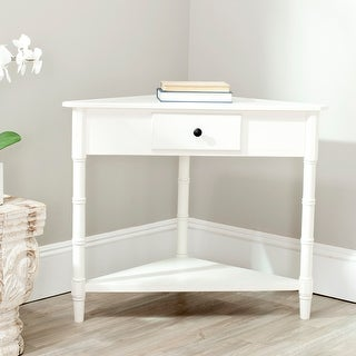 "Safavieh Gomez Cream 1-drawer Corner Table - 33.9"" x 17.3"" x 28"""