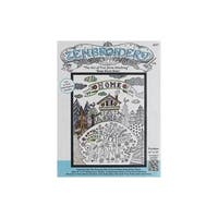 Design Works Zenbroidery Fabric 14x18 HomSweetHome
