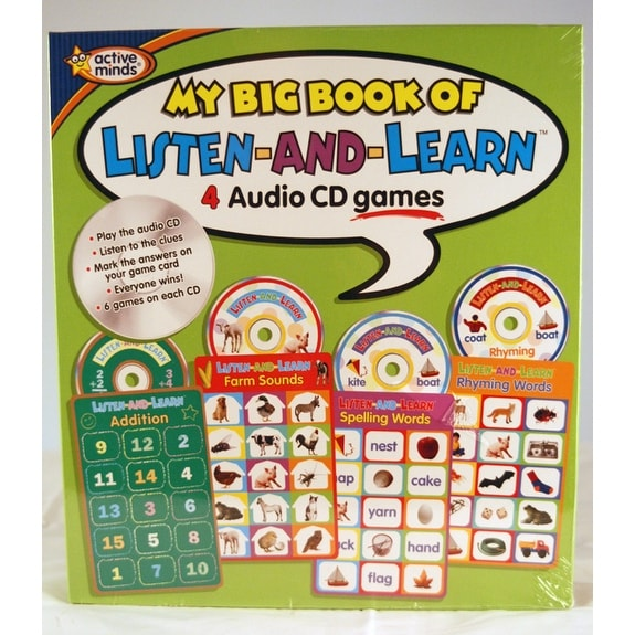 Active Minds My Big Book of Listen & Learn Audio CD Games - multi-color