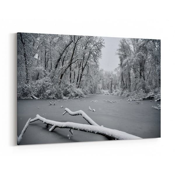 New Jersey Black And White Landscape Canvas Wall Art Print Overstock 31648929
