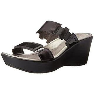 Naot Womens Treasure Leather Slide Wedge Sandals - 43 medium (b,m)