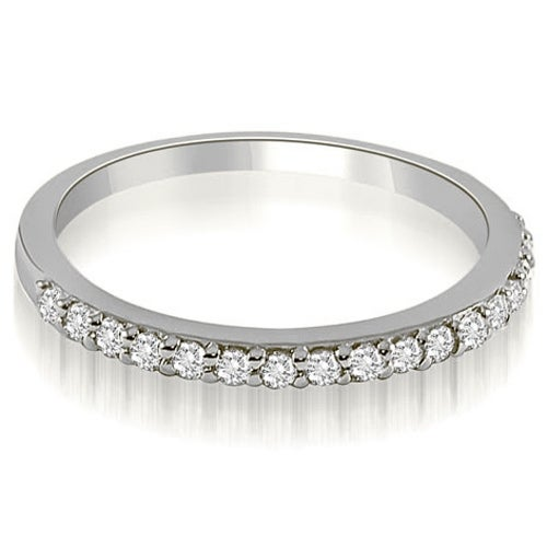 0.11 cttw. 14K White Gold Classic Round Cut Diamond Wedding Band