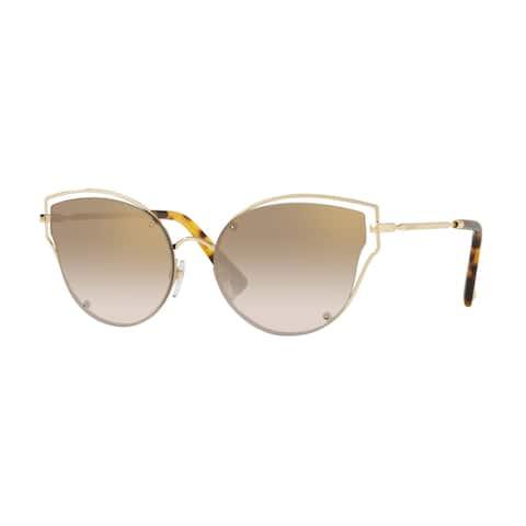 Valentino VA2015 30037I 58 Light Gold Woman Irregular Sunglasses