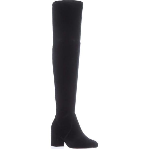I35 Rikkie2 Over The Knee Boots, Black