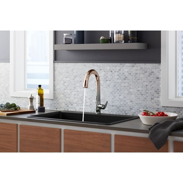 Kohler K 72218 Sensate Touchless Kitchen Faucet With 15 1 2 Pull Down Spout Docknetik Magnetic Docking System And A Overstock 15910690