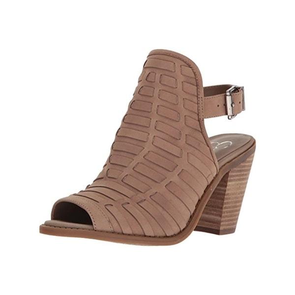 Jessica Simpson Womens Celinna Ankle Boots Open Toe Heels