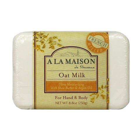 A La Maison Traditional French Milled Bar Soap Oat Milk 8.8 oz - 250 g