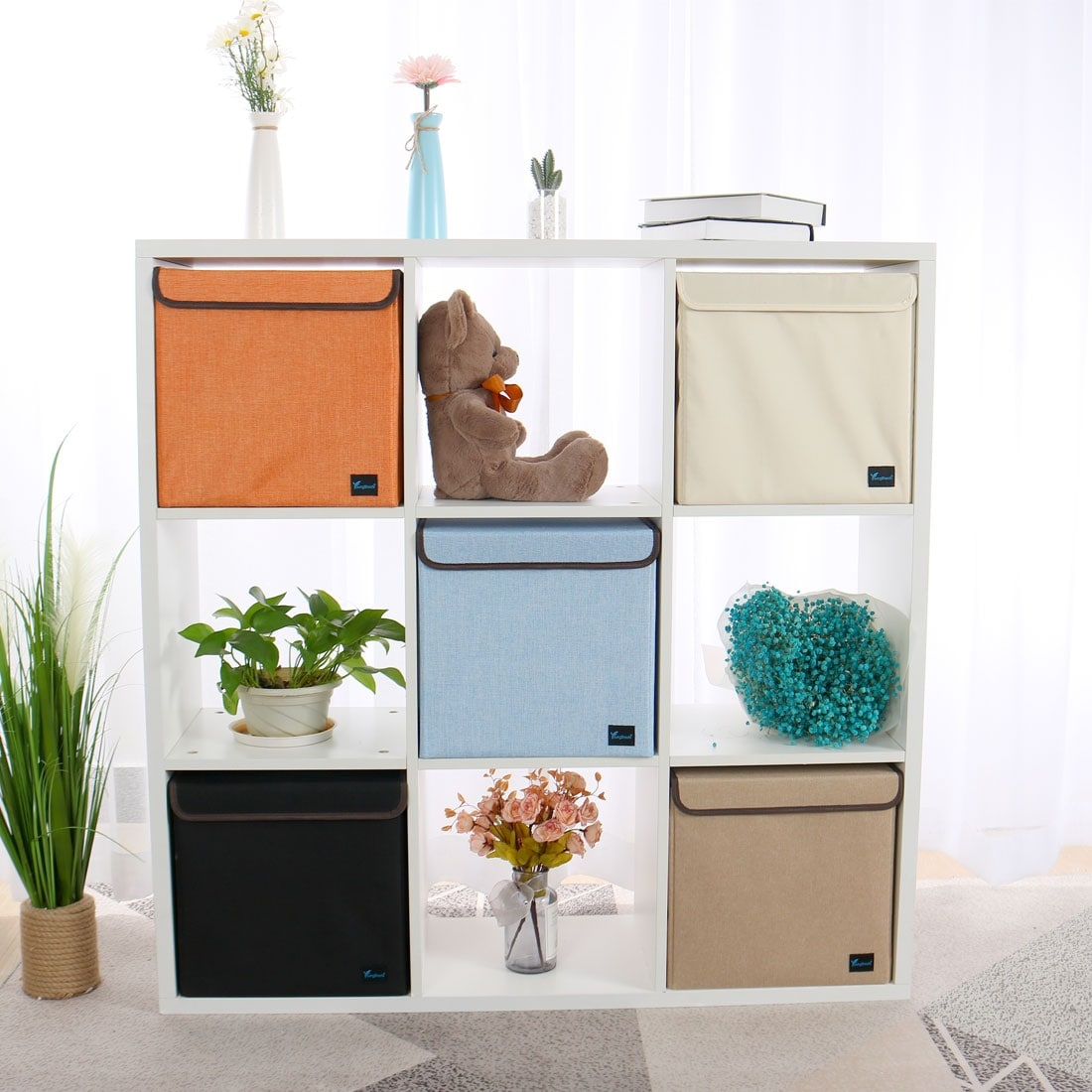 Fabric Storage Bins Baskets Foldable