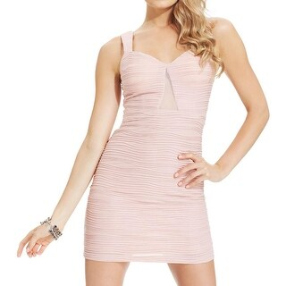 Hailey Logan Womens Juniors Party Dress Shimmer Mesh Inset