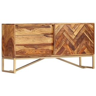 "vidaXL Sideboard 46.5""x11.8""x23.6"" Solid Sheesham Wood"