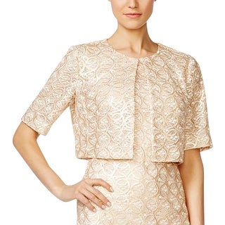 Calvin Klein Womens Bolero Sequined Embroidered