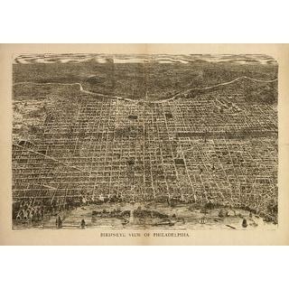 Philadelphia, Pennsylvania - (1872) - Panoramic Map (Playing Card Deck - 52 Card Poker Size with Jokers)