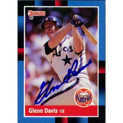 Signed Davis Glenn Houston Astros 1988 Donruss Baseball Card Autographed