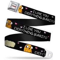 Adventure Time Logo White Full Color Jake I Love You Everything Burrito Seatbelt Belt