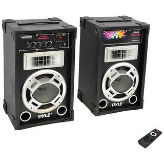 Pyle Pro 800 Watt Disco Jam Powered Two-Way PA Bluetooth Speaker System (Pair)