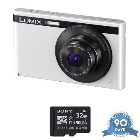 Panasonic Lumix DMC-XS1 Digital Camera (White) - with Memory Card -