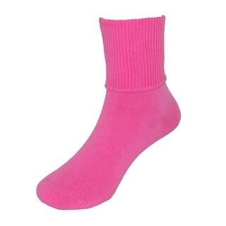 Jefferies Socks Girl's Seamless Turn Cuff Anklet Socks (6 Pair Pack)