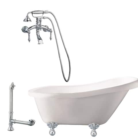 "Giagni LH1 Hawthorne 60"" Free Standing Soaking Tub Package -"