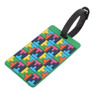 Padlock Rubber Rectangle Shaped Luggage Suitcase Tag ID Label Multicolor