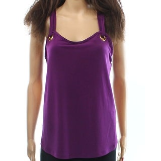 INC NEW Purple Strappy Grommet Women's Size Small S Blouse Knit top