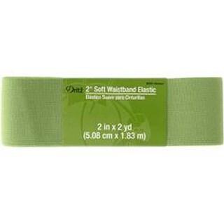 """Green - Dritz Soft Waistband Woven Elastic 2""""X2yd"""