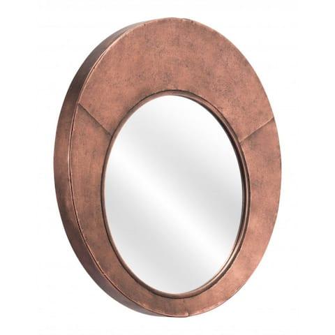 "Offex Roderick Living Room Decorative Modern Wall Mirror - Copper - 2""L x 25.6""W x 25.6""H"
