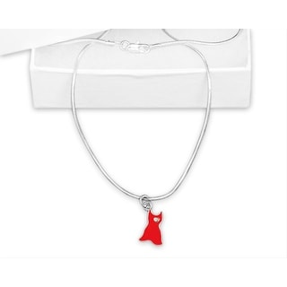Red Dress Go Red Awareness Necklace for Heart Disease