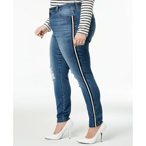 Celebrity Pink Womens Jeans Blue Size 24 Side Striped Skinny Stretch