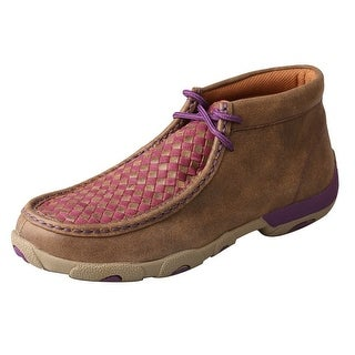 Twisted X Casual Shoes Womens Checkered Mocs Brown Purple WDM0042