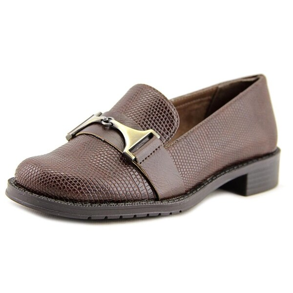 A2 By Aerosoles Sleigh Ride Women Round Toe Synthetic Brown Loafer