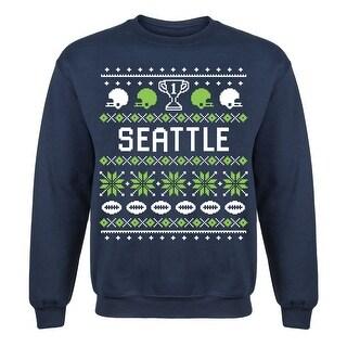 Seattle Ugly Adult Crew Fleece Pullover Sweatshirt