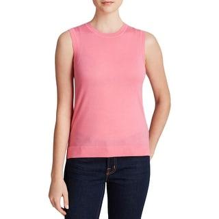 Theory Womens Janeely Tank Top Sweater Merino Wool Knit
