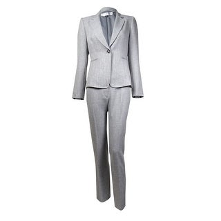 Tahari Women's Notch Lapel Single Button Woven Pant Suit
