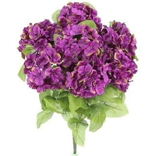 Admired by Nature GPB730-PASSION Artificial Full Blooming Stain Hydrangea Passion