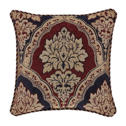 Five Queens Court Middleton 18 Inch Square Decorative Throw Pillow