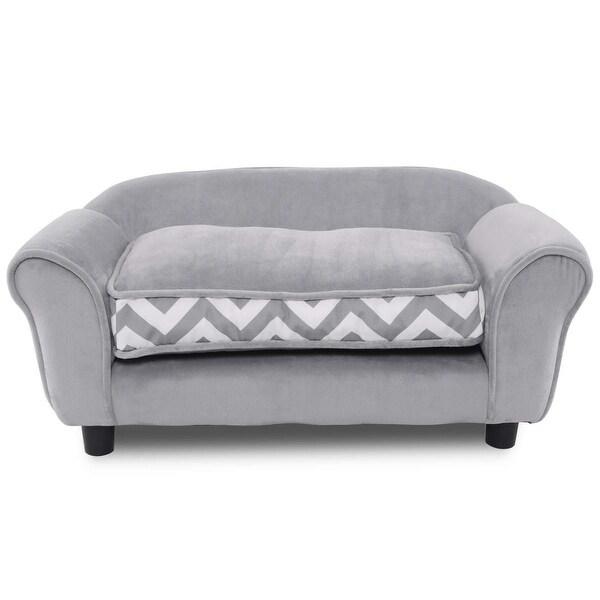 Shop Gymax Gray Pet Dog Puppy Sleeping Bed Sofa w/ Cushion