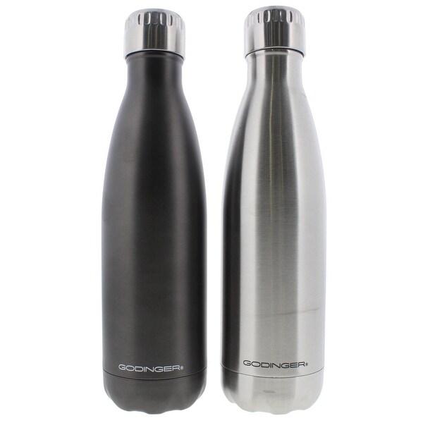Godinger Water Bottle Stainless Steel Hot/Cold - stainless/titanium - 17 oz.
