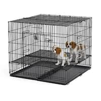 """Midwest Puppy Playpen with Plastic Pan and 1/2"""" Floor Grid Black 36"""" x 36"""" x 30"""""""