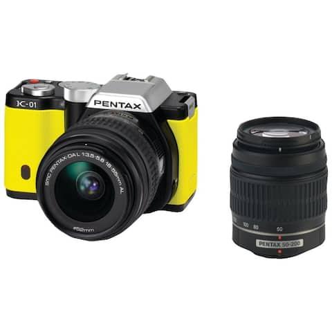 Pentax K-01 Digital Camera Kit Lens 15372 Yellow