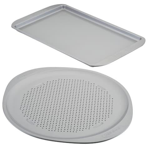 Farberware Nonstick Bakeware Pizza Pan & Baking Sheet 2 PC Set
