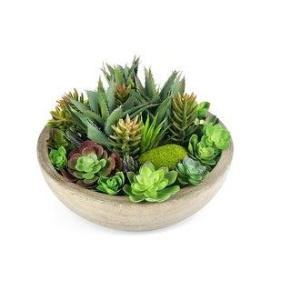 MODA MDW-1036-0702 wood pot decoration - 14.17*14.17*9.45 inches