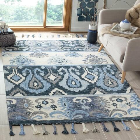 Safavieh Handmade Suzani Dilys Boho Tribal Wool Rug