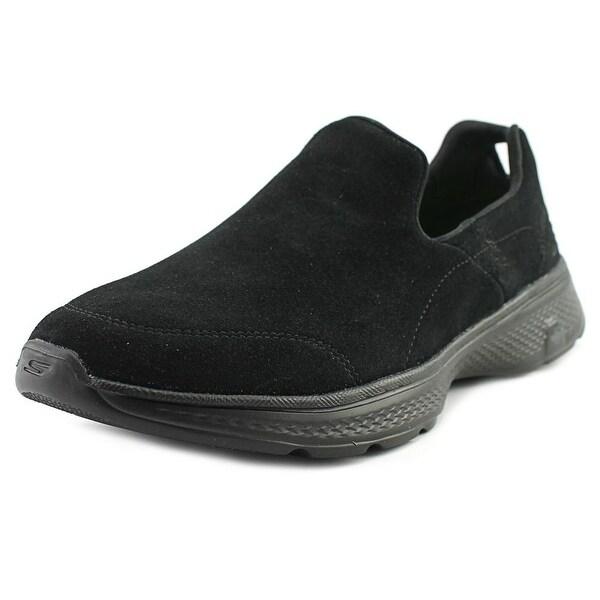 Skechers GoWalk 4 - Expertise Men Round Toe Synthetic Black Walking Shoe