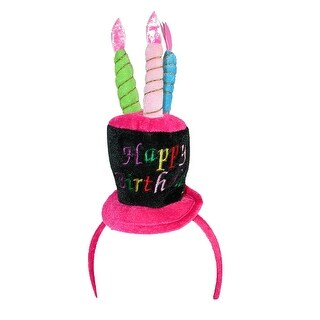 CTM® Women's Blinking Light Happy Birthday Hat Headband - Multicolored - One Size