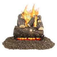 Pleasant Hearth VL-WO18D 18 Inch Willow Oak Vented Gas Log Set 45000 BTUs - Grey