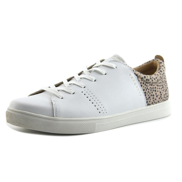 Skechers Moda-Spotted Stepper Women Leather White Fashion Sneakers